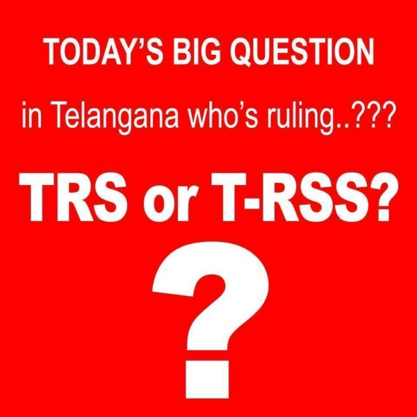 TRS blamed, RSS activists, Telangana State, Violence, CAA