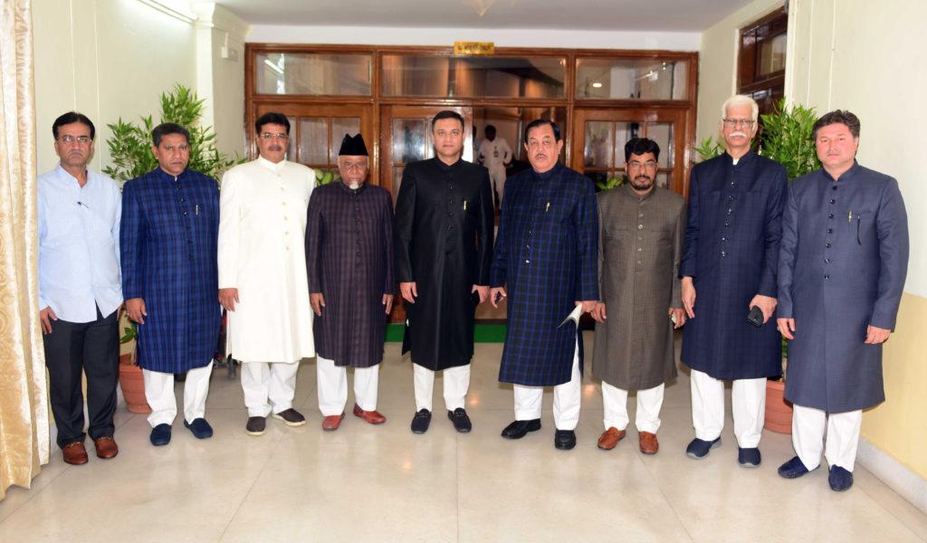 Akbaruddin Owaisi arrives for assembly session with MIM Legislators
