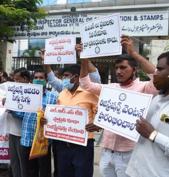 Telangana to start land registration soon on realtors association protest