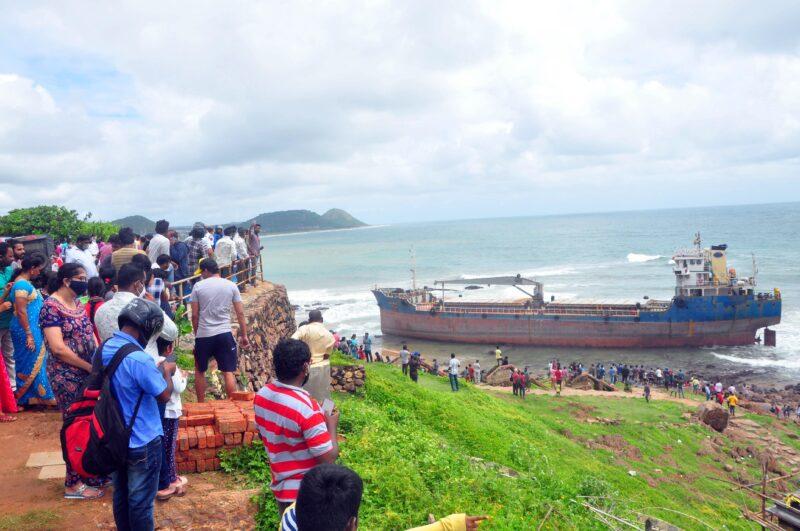 Ship pushed at Visakhapatnam, Heavy tides, Rainfall, Hyderabad, India flood