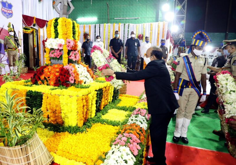 Home Minister Mahmood Ali, Chief Minister KCR, Police, Martyrs