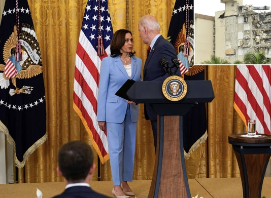 Kamala Harris Reminds Joe Biden Over Recent Collapse